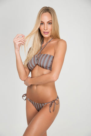 STONY BANDEAU | BOTTOM DOUBLE RIPPLE TIESIDE - LE BAIN RESORTWEAR