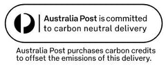 Australia Post carbon neutral delivery symbol displayed on Australia Post packaging