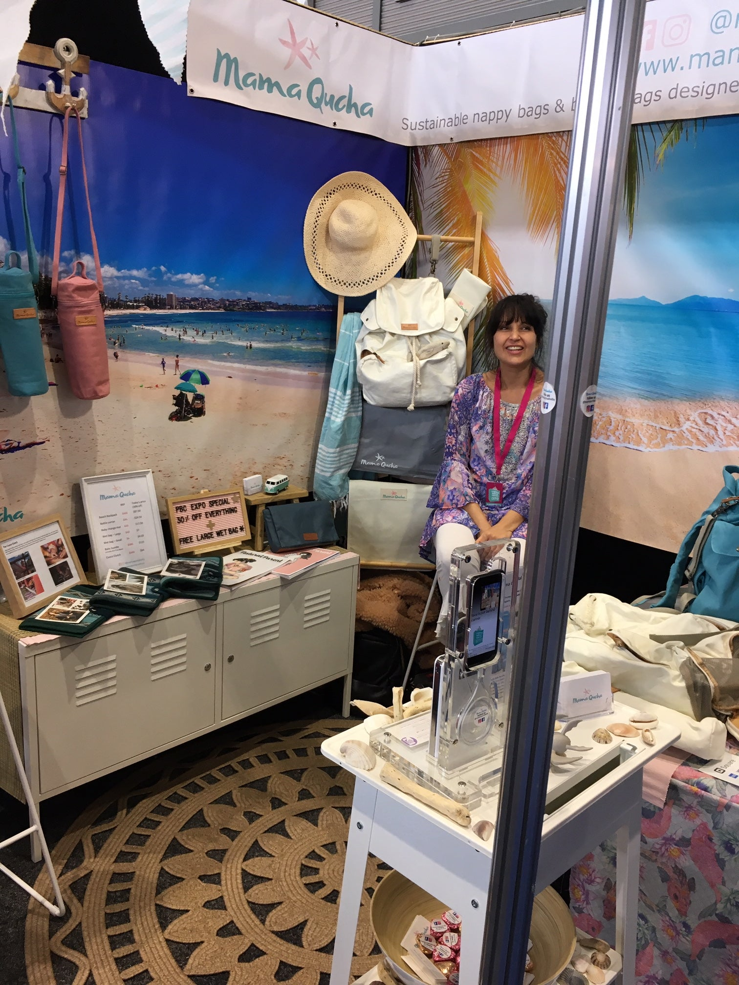Mama Qucha at the PBC Expo in Sydney in May 2019