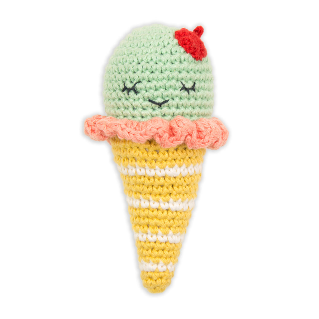 Weegoamigo Crochet Rattle – Icecream