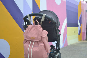 Mama Qucha Nappy Backpack / baby beach bag in pink