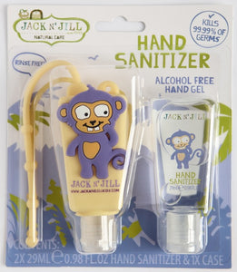 Jack N' Jill Hand Sanitiser – Monkey 2pk 29ml * Alcohol Free*