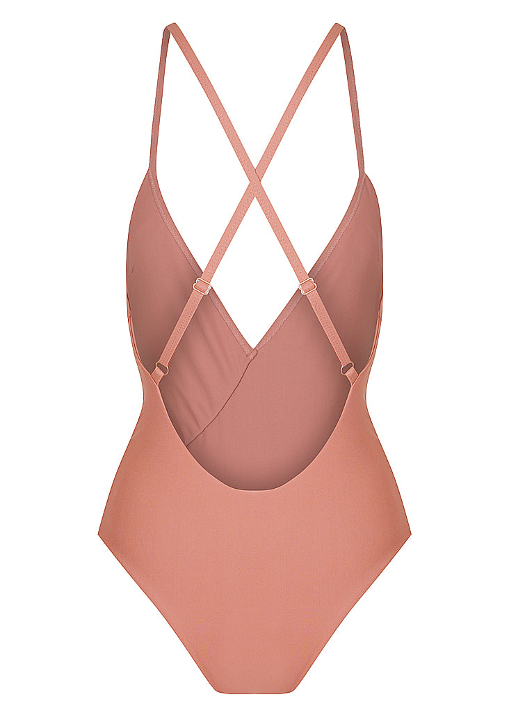 BELLA FRILL ONE PIECE - SANGRIA