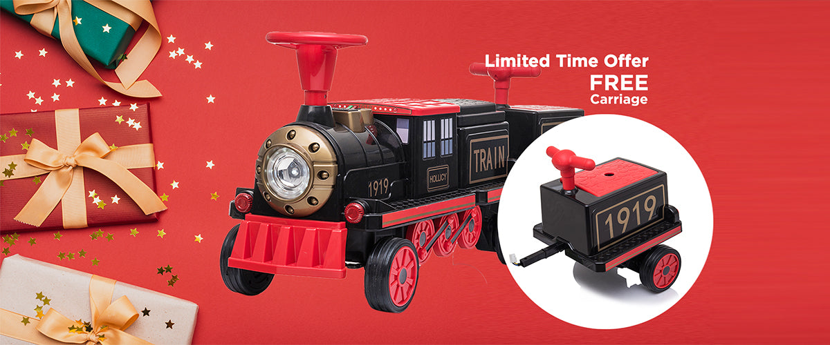 Voltz Toys - Canadian Top Car Toys for kids - Electric Motorized Ride-On Train