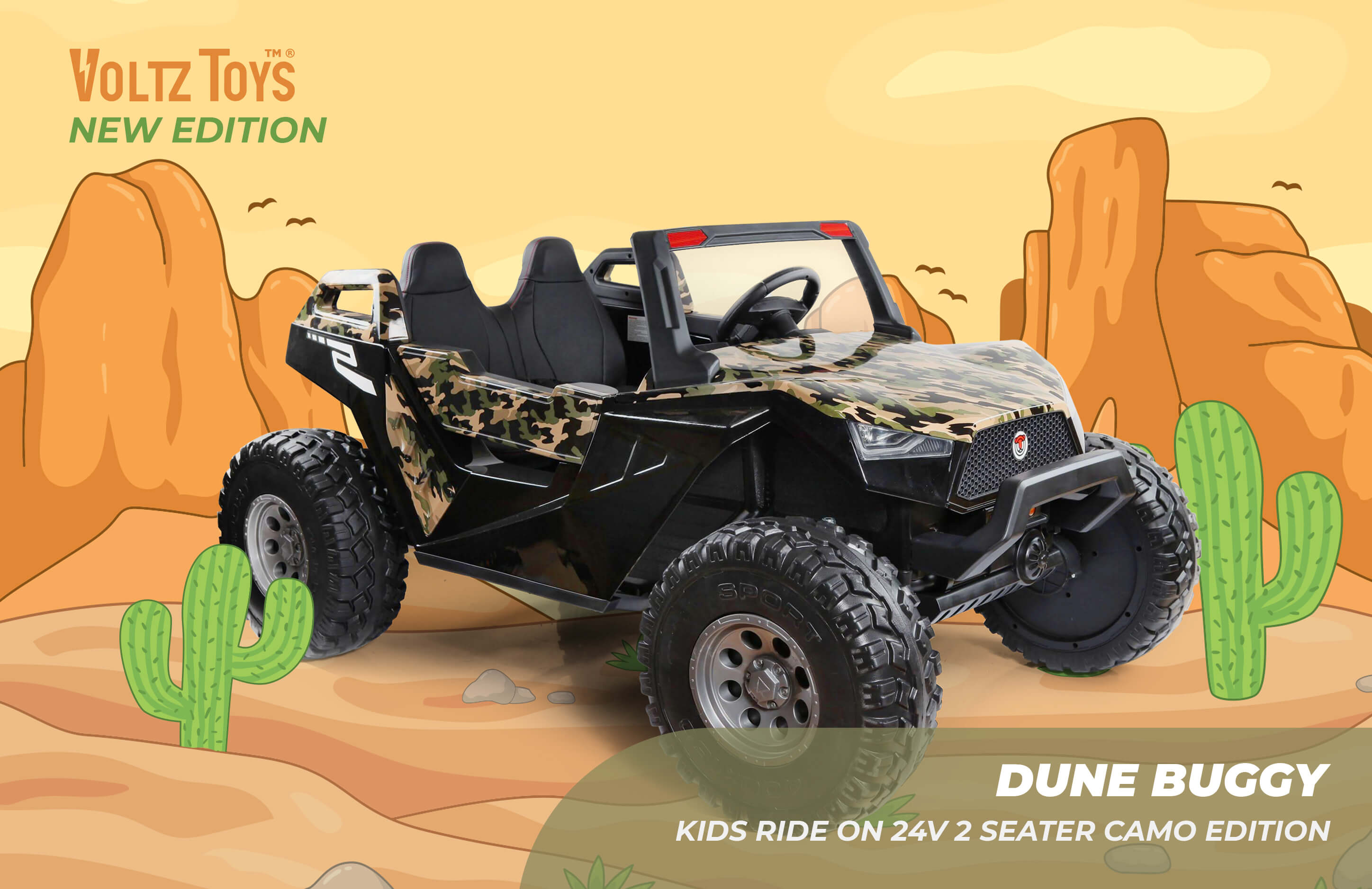 24V Off-road Dune Buggy Ride On Truck for Kids outdoor and picnic