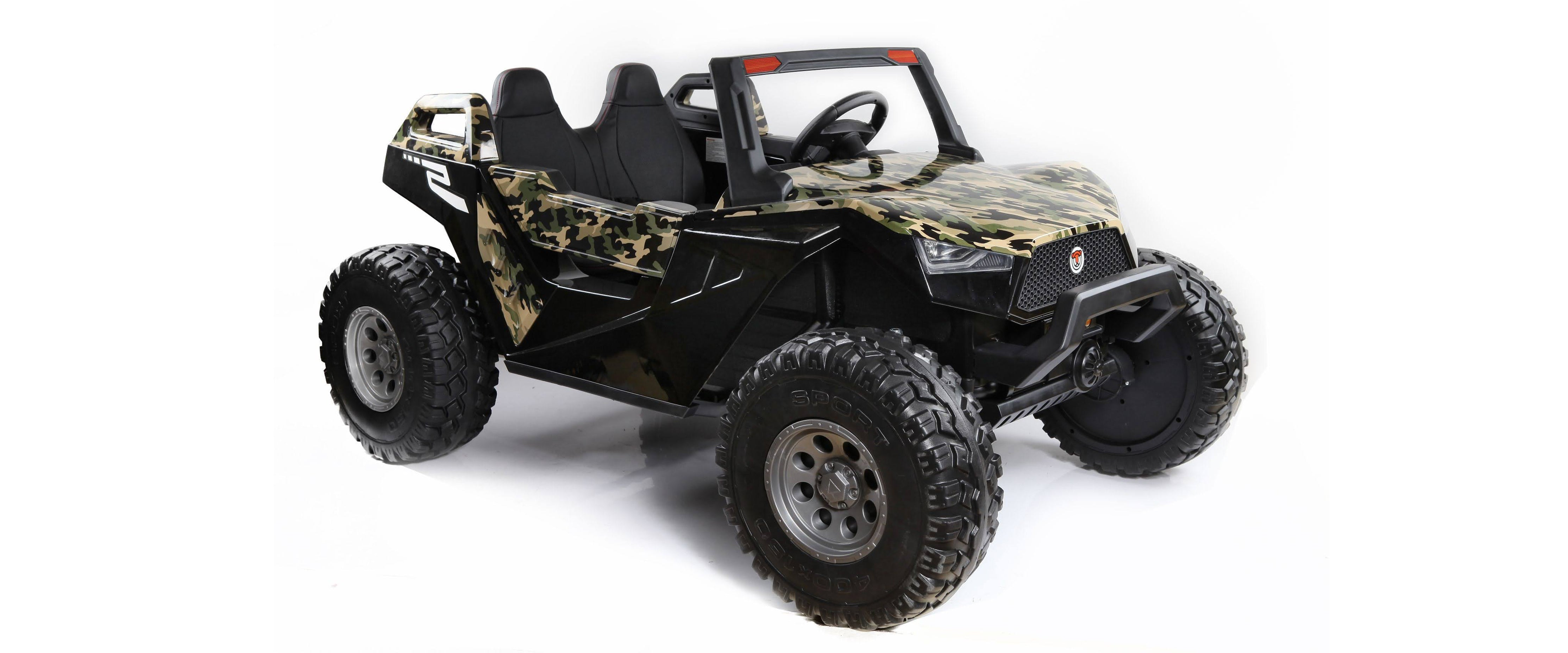 24V 2 seaters off-road dune buggy ride on truck in camo green by voltz toys