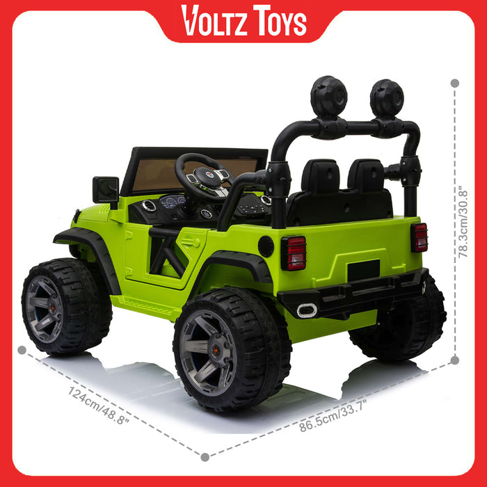 2 Seater 12V Electric Ride-On Lifted Monster Jeep Truck for Kids with Parental Remote Control - Voltz Toys-Ride On-Voltz Toys