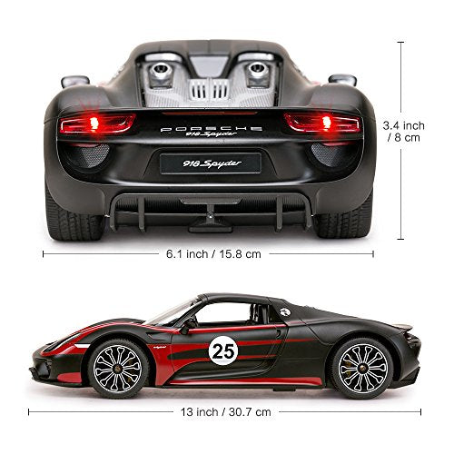 Rastar 1:14 R/C PORSCHE 918 Spyder Performance Remote Control Car for Kids