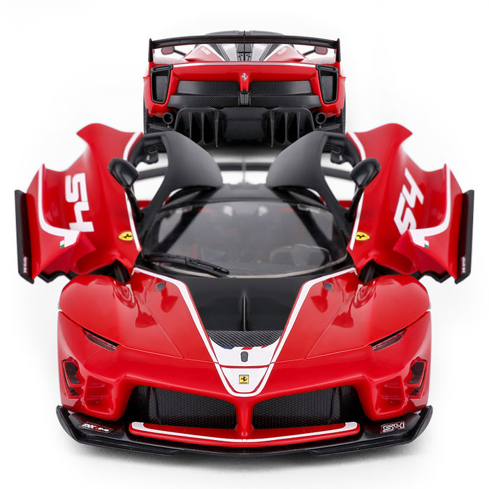 RASTAR RC Car Kits to Build, 1/18 Ferrari FXX-K EVO RC Car Assembly Building Kit with Remote, 92pcs DIY, STEM Kits for Kids Ages 8+