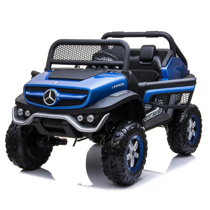Mercedes-Benz Unimog 2 Seater 12V Electric Ride-On Car for Kids with Parental Remote Control - Voltz Toys