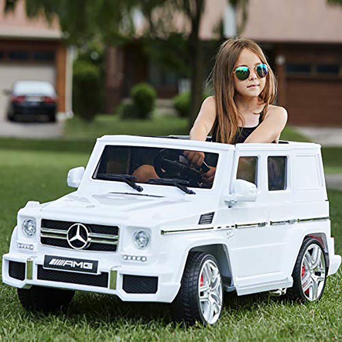 Mercedes-Benz AMG G63 12V Electric Motorized Ride-On Truck for Kids with Parental Remote Control - Voltz Toys