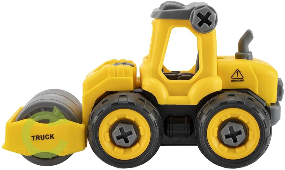 STEM Toys - 4 in 1 Take Apart Construction Vehicles 【B】