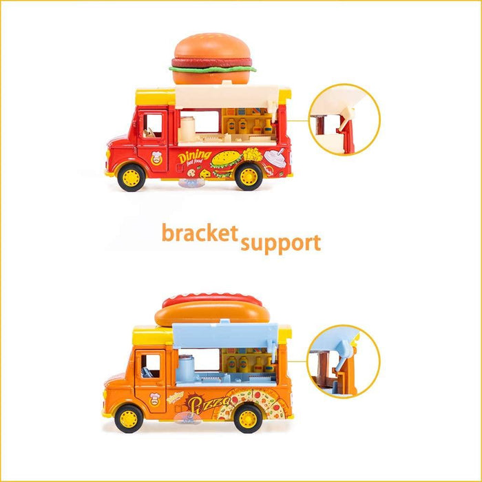 STEM Toys - Alloy Dining Pull-Back Magnetic Induction Car 【Hotdog Food Truck】