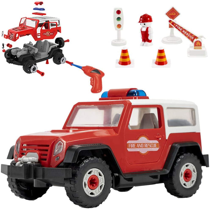 STEM Toys - Take Apart Fire Engine Assemble Toy for Kids