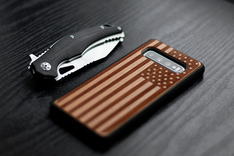 galaxy wood case