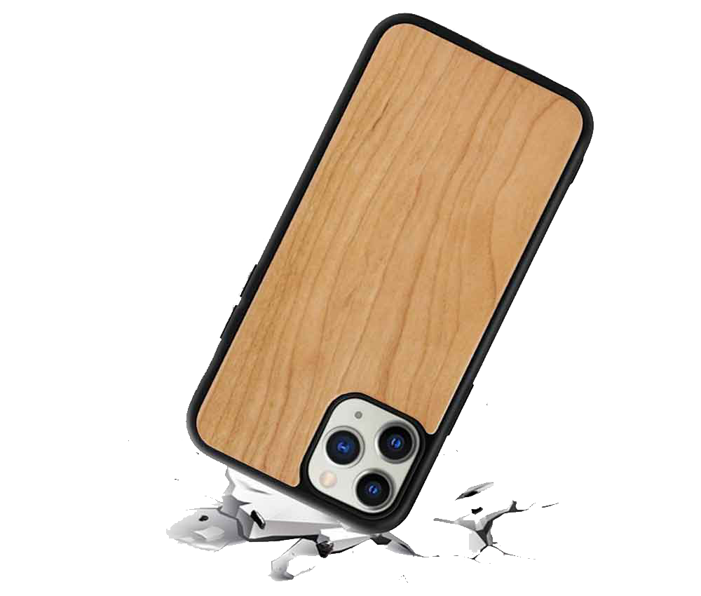 wooden phone case drop protection