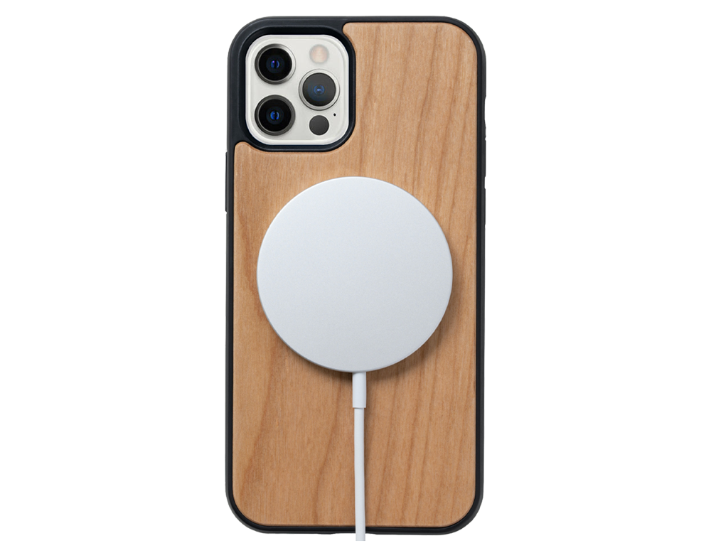 wooden phone case magsafe compatible