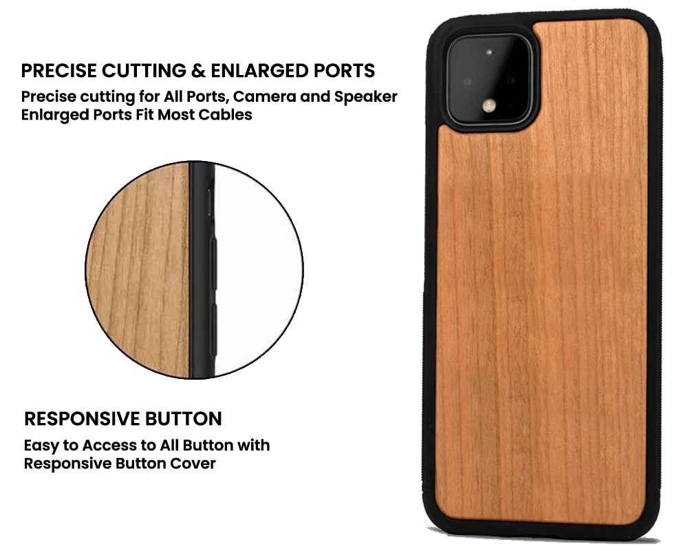 wooden case for Google Pixel 5