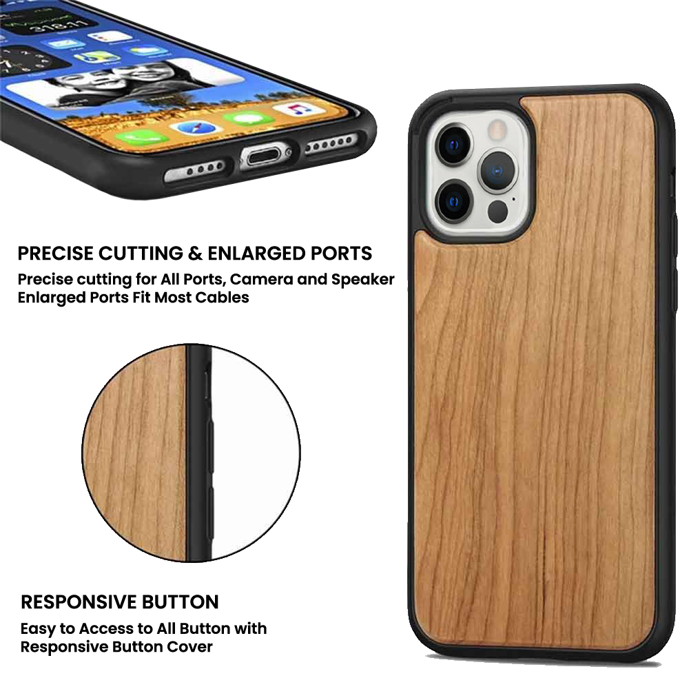 wooden phone case specs