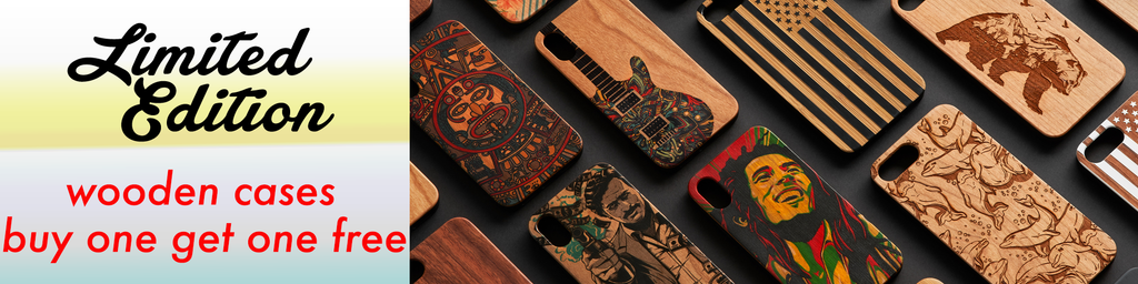 Limited Edition wooden and colored apple iPhone and Samsung Galaxy cases and covers