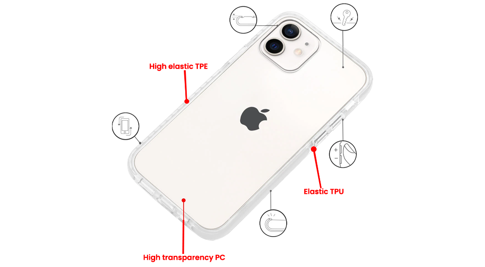 clear phone case material specs