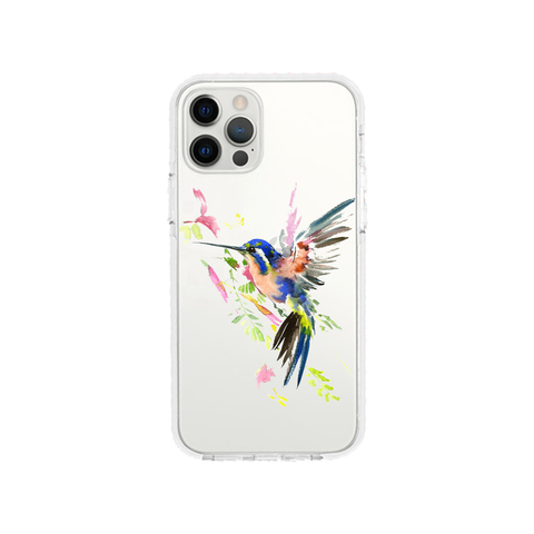 Watercolor Hummingbird Shockproof Clear Phone Case For iPhone - LIMITED77
