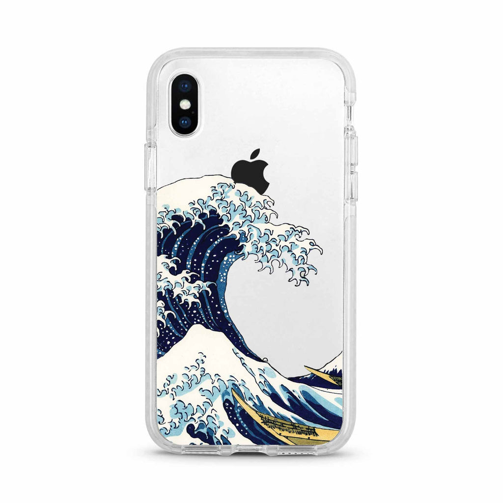 Great Wave of Kanagawa Shockproof Clear Phone Case For iPhone