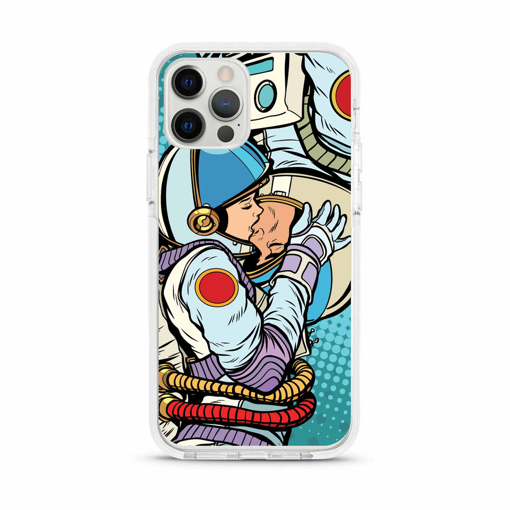 Kissing Astronauts Clear Impact iPhone Case