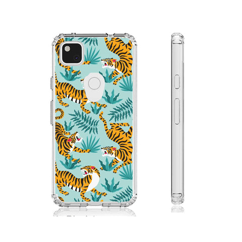 Tiger Sketch Clear Impact Case for Google Pixel