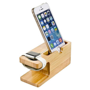 Bamboo Wooden iPhone charger stand and Apple watch charger - LIMITED77