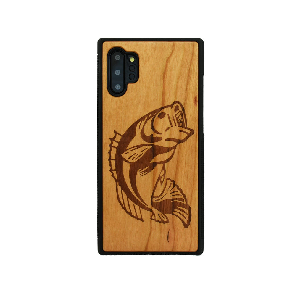 Bass Fish Engraved Unique Samsung Galaxy Wood Case - LIMITED77