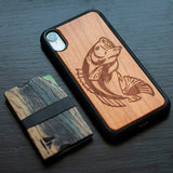 Bass Fish Wooden Unique Carved Case for Apple iPhone - LIMITED77