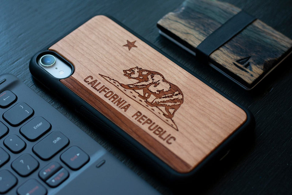 California Republic Wooden Unique carved phone case for Apple iPhone - LIMITED77