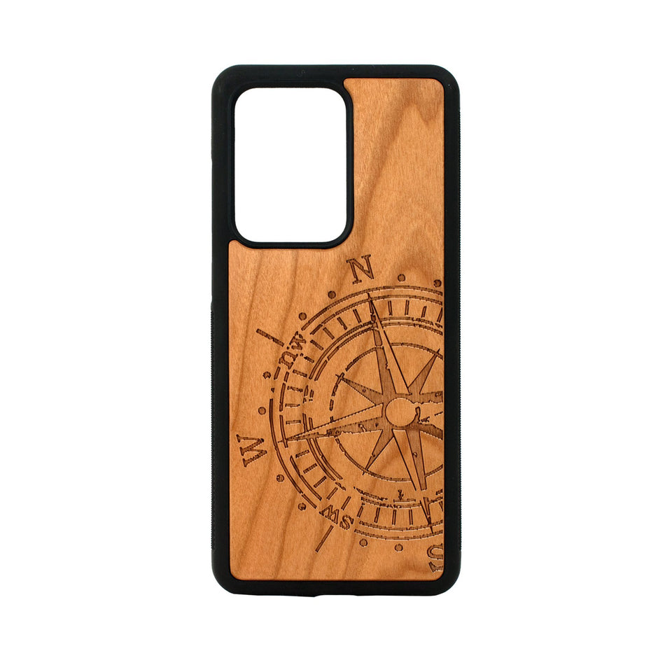 Compass Engraved Unique Samsung Galaxy Wood Case Wooden limited77