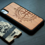 Compass Unique carved Wooden Case for iPhone - LIMITED77