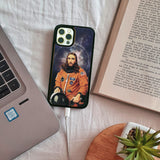 Space Jesus Wooden Unique carved phone case for Apple iPhone - LIMITED77