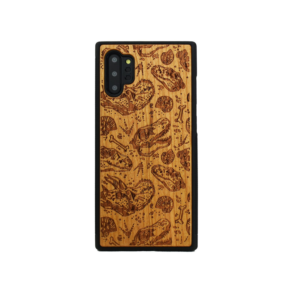Dinosaur Fossils Wood Unique Engraved Samsung Galaxy Wood Case - LIMITED77
