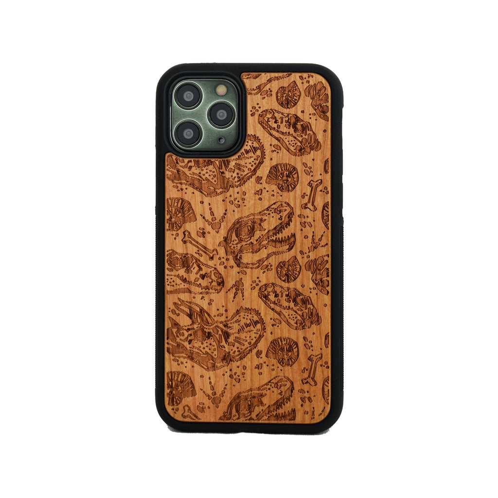 Dinosaur Fossils Wooden Unique Carved Case for Apple iPhone - LIMITED77