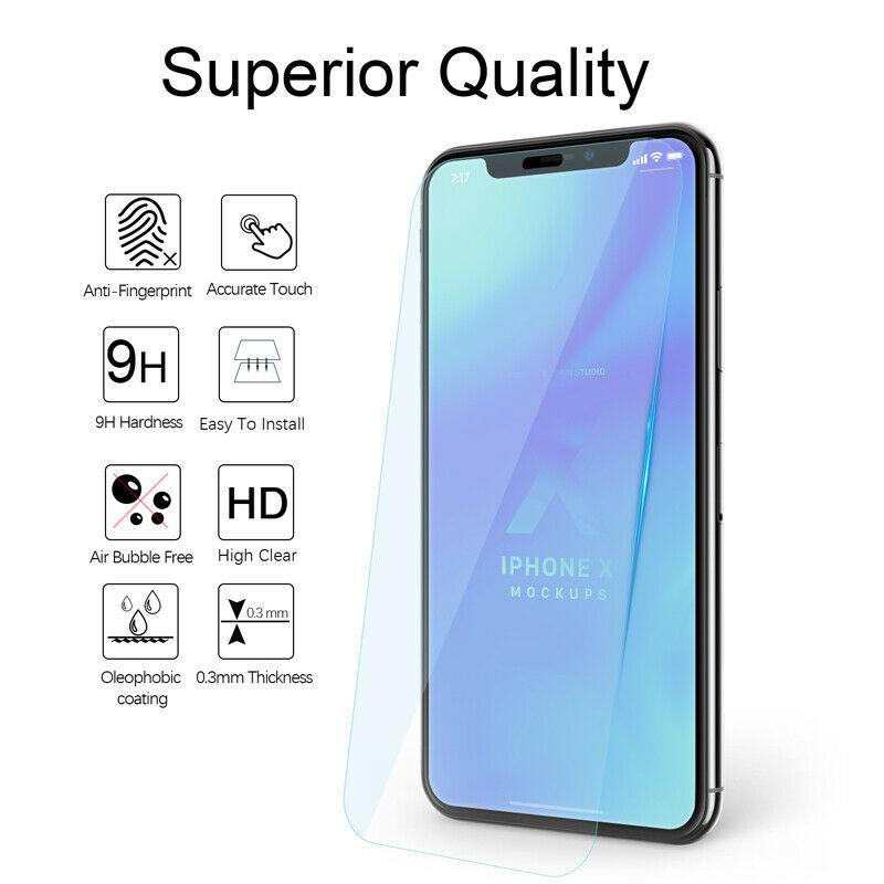 For iPhone 11 Pro Max X XS Max XR Full Cover Tempered Glass Screen Protector - LIMITED77