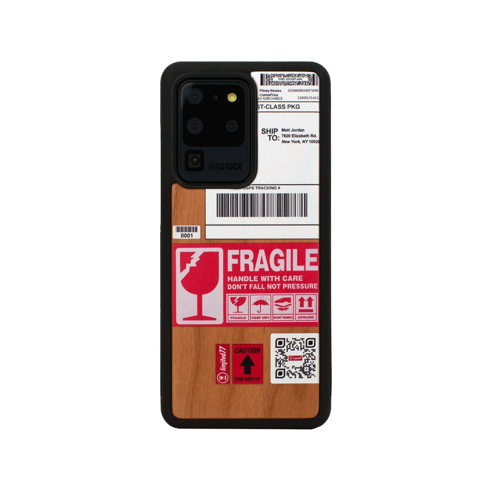Fragile Unique Samsung Galaxy Wood Case Wooden limited77