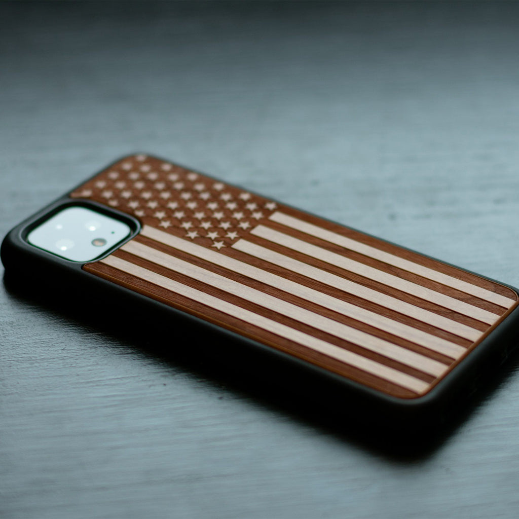 Google Pixel 3, 3 XL, Google Pixel 4, 4 XL Case carved Wooden Engraved USA Flag Design limited77