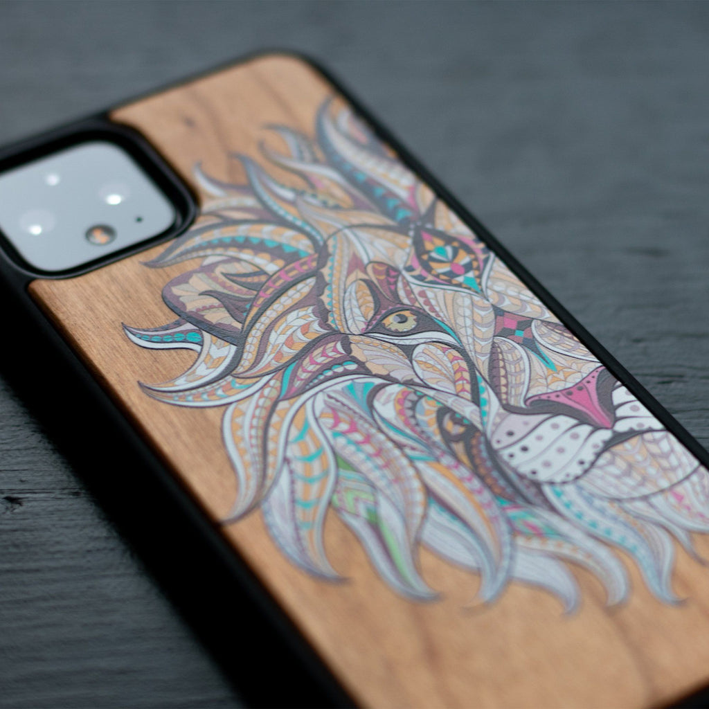 Lion Design Google Pixel Wooden Case - LIMITED77