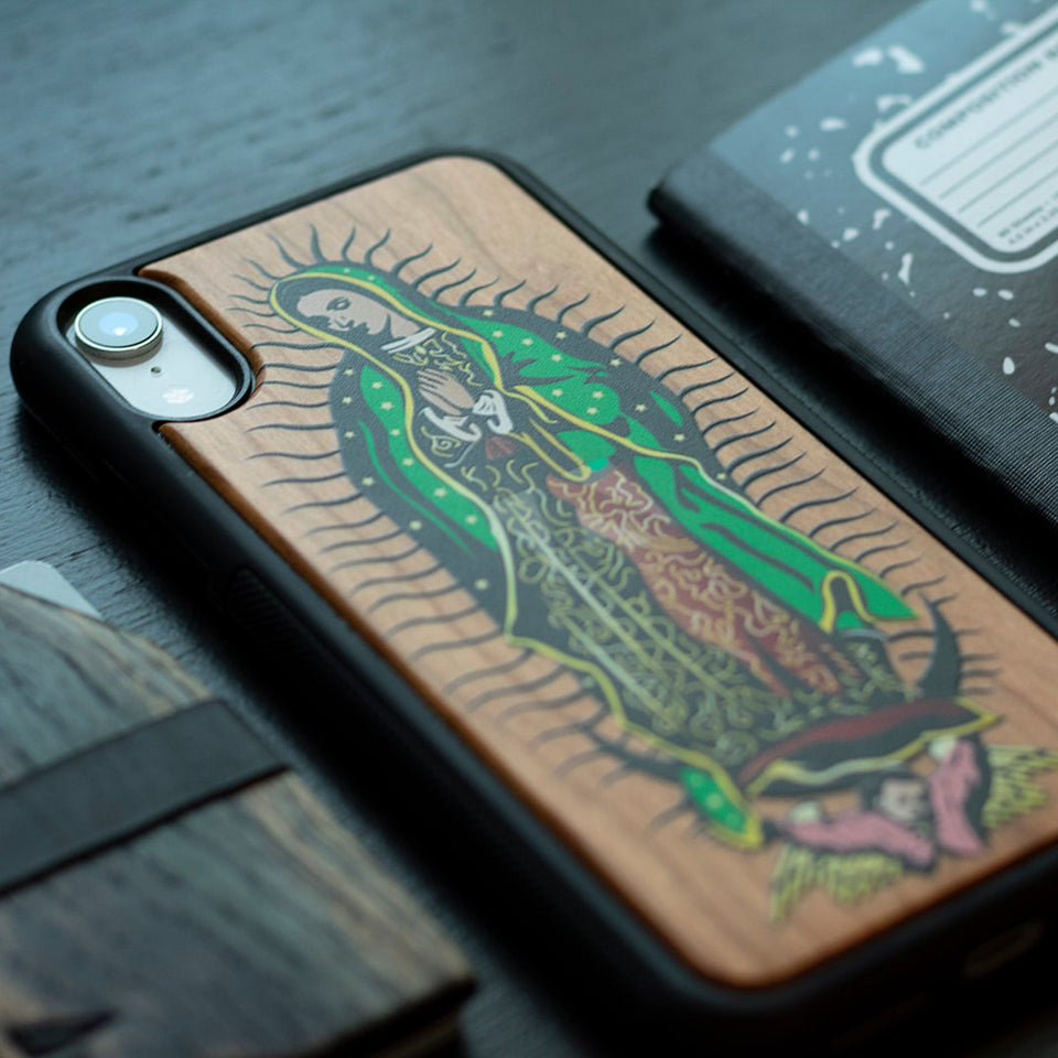 Virgin of Guadalupe Wooden Unique Case for Apple iPhone - LIMITED77