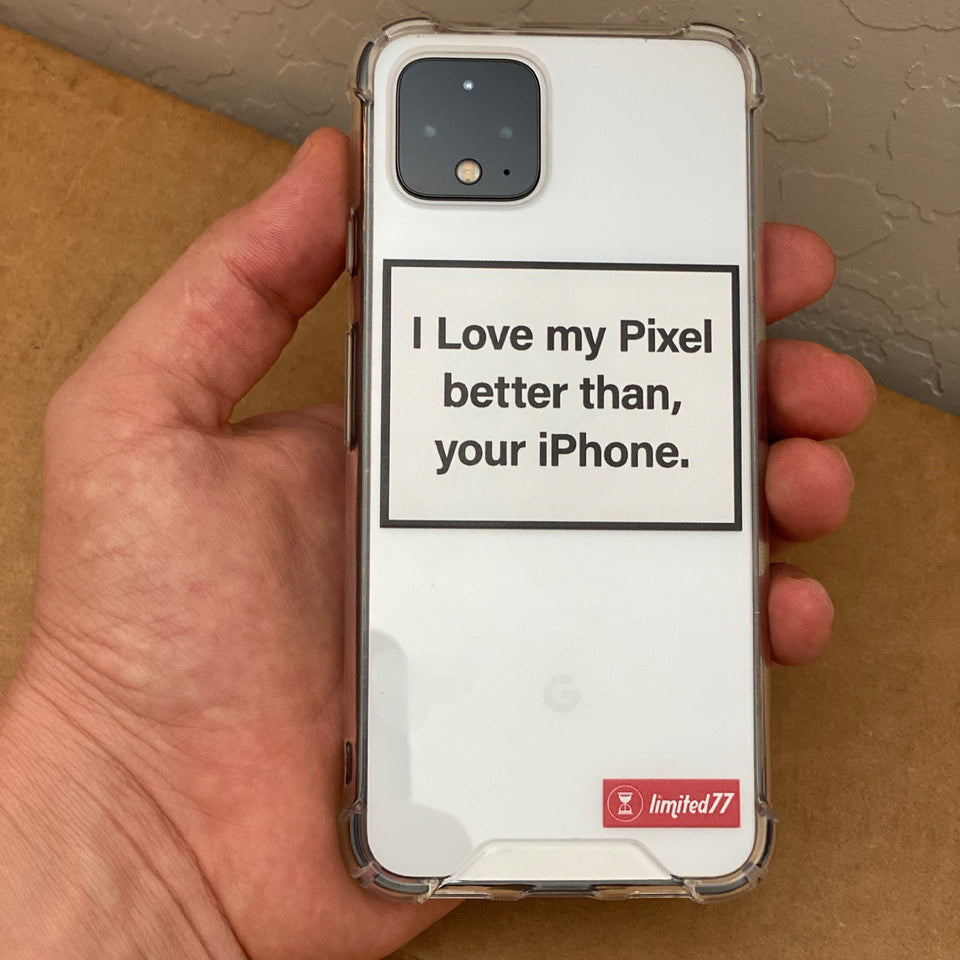 I love my Pixel phone case Clear Phone Case LIMITED77