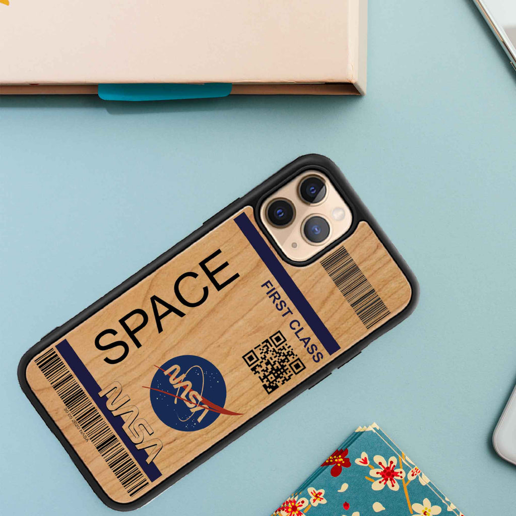 NASA Space Design UV Wooden phone case for iPhones