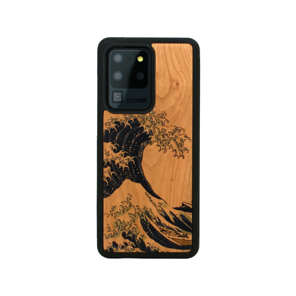 Kanagawa Wave Unique Samsung Galaxy Wood Case Wooden limited77