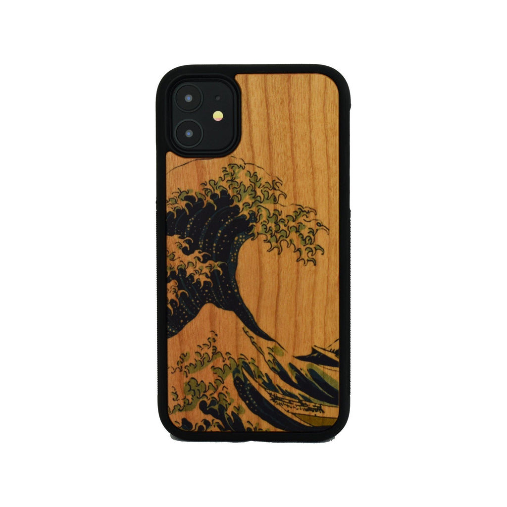 Kanagawa Waves Wooden Unique Case for Apple iPhone - LIMITED77