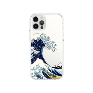 Kanagawa design Shockproof Clear Phone Case For IPhone - LIMITED77