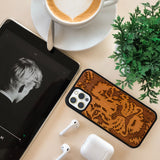 Lion Engraved Wooden phone case for iPhone - LIMITED77