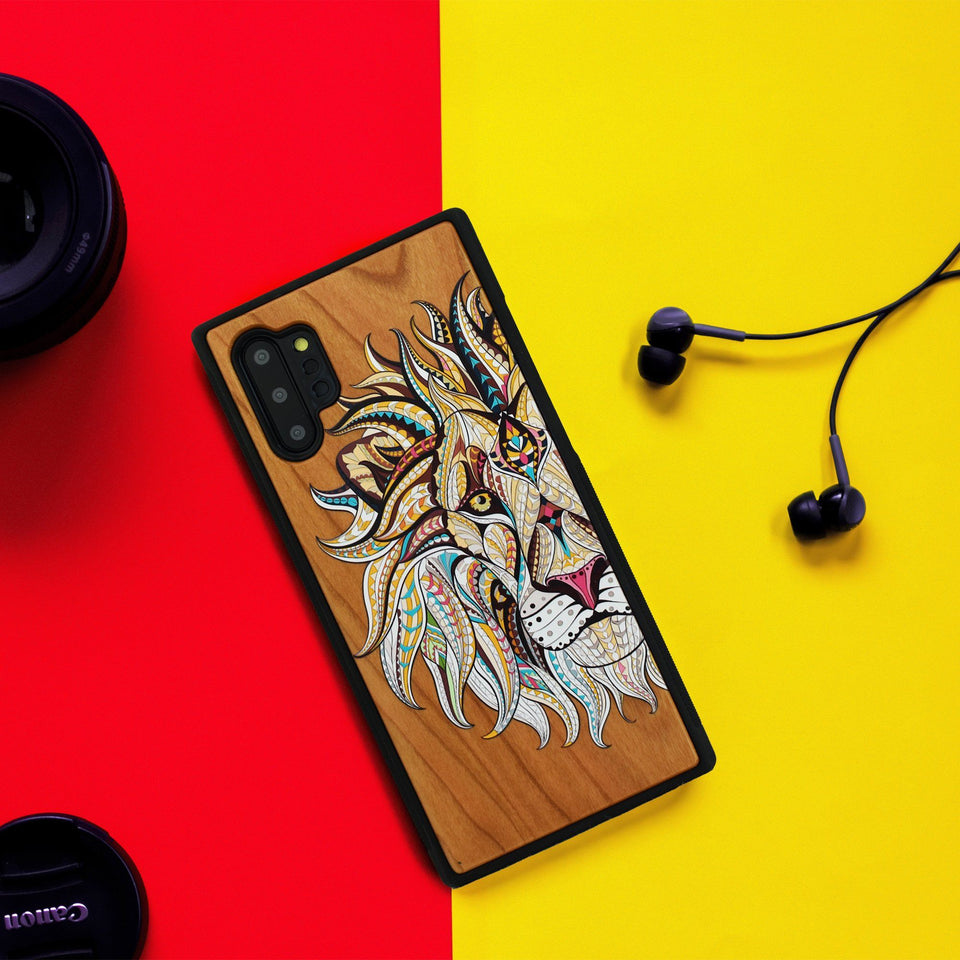 Lion Unique Wood Colored Samsung Galaxy Case - LIMITED77